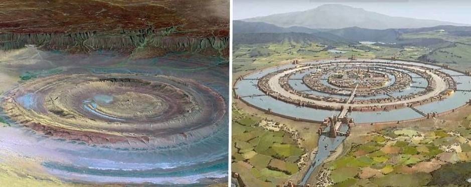 The Eye of the Sahara: The mysterious desert structure that could have been Atlantis
