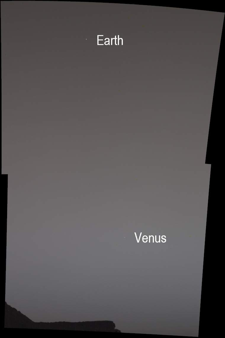 Curiosity photographs Earth and Venus from Mars 33