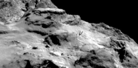 "The ""Transmission of Extraterrestrial Sounds"" comes from an unknown base visible on Comet 67 / P 37"