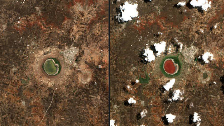 A lake in India mysteriously changes color overnight 31