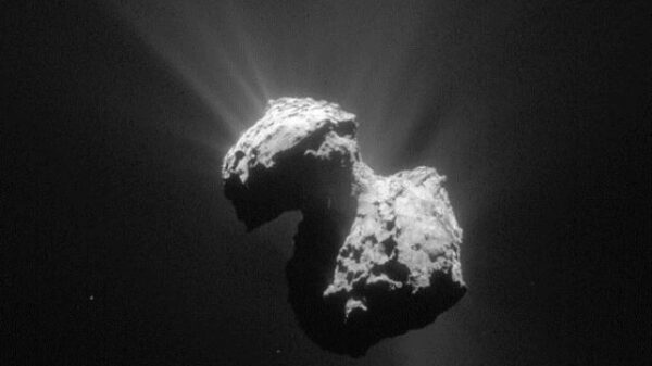 """The """"Transmission of Extraterrestrial Sounds"""" comes from an unknown base visible on Comet 67 / P 4"""