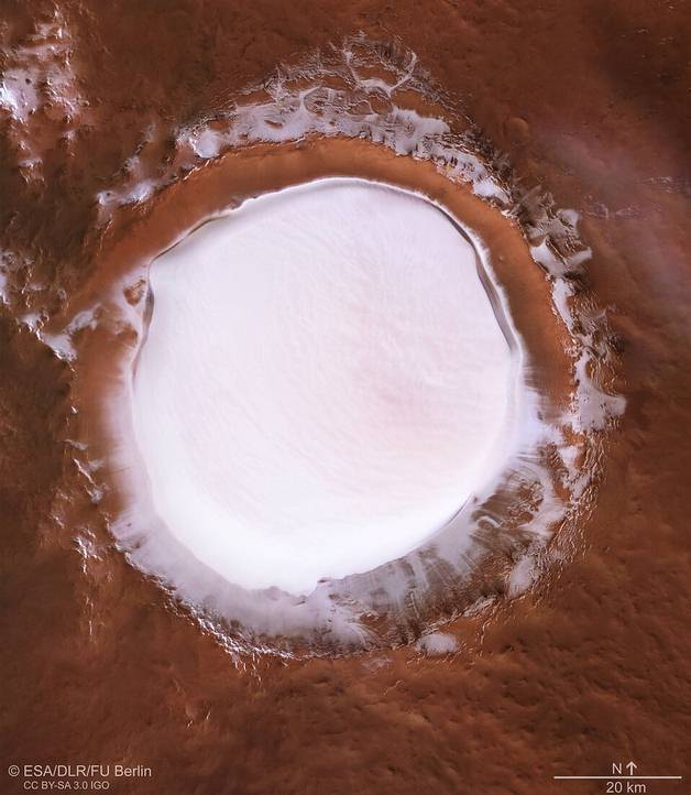 Korolev: the Martian crater that could be a source of water for colonizers 37