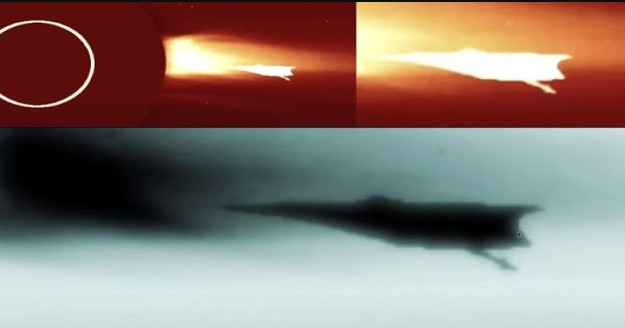 """Soho space probe photographs """"Huge Alien Spaceship"""" that uses the Sun as a Stargate 39"""