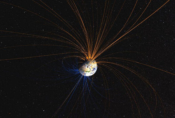 Earth's magnetic field moves ten times faster than previously thought 44