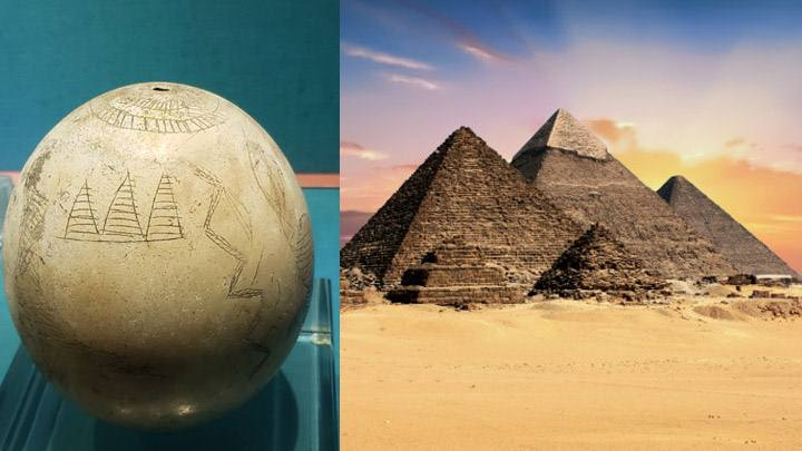 The three pyramids of Giza in an ostrich egg over 5000 years old? 41