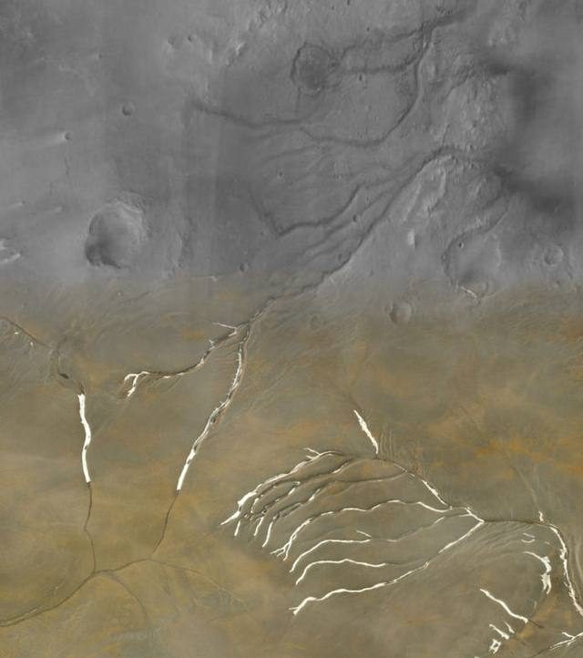 Primeval Mars was covered in ice sheets, not flowing rivers 42
