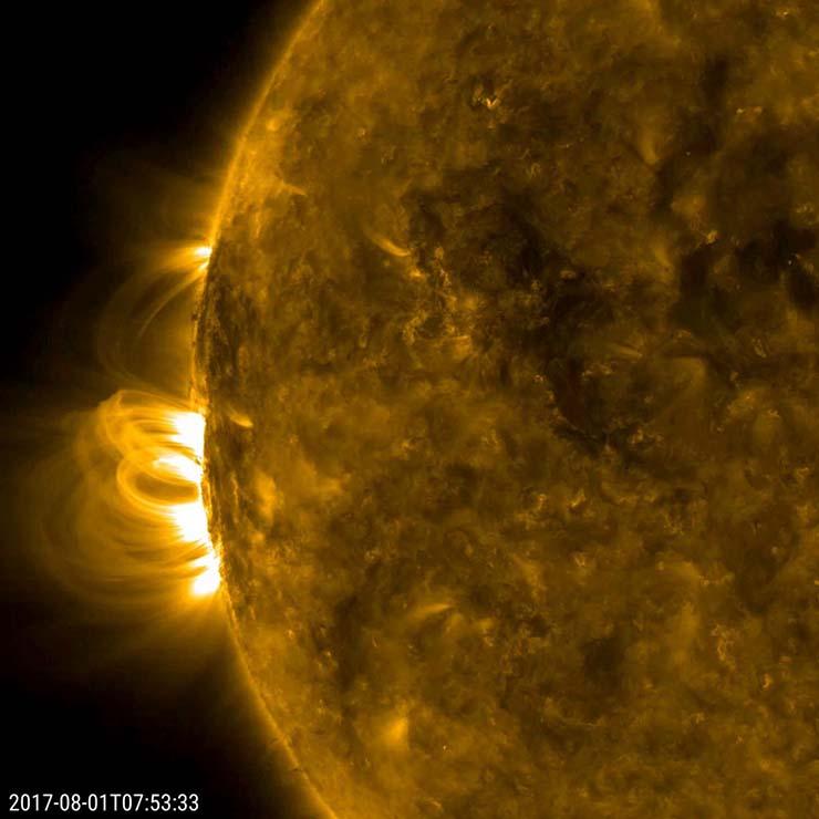 dangerous solar storm Thursday - NOAA warns of the arrival of a dangerous solar storm this Thursday