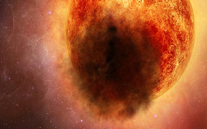 A mysterious eruption is to blame for darkening the star Betelgeuse 38