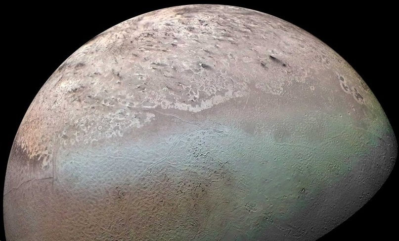 Triton, the moon of Neptune, lapped seas of liquid nitrogen about a billion years ago