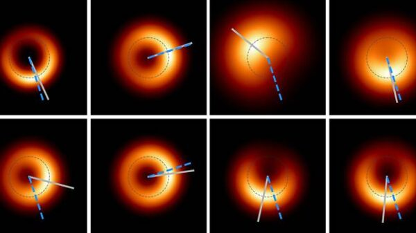 "First photographed black hole ""blinks"" like an eye 6"