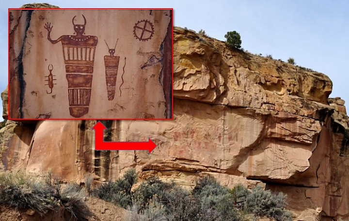 """Sego Canyon petroglyphs in Utah show """"Beings from Other Worlds"""" 35"""