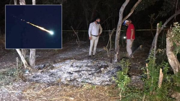 A meteor falls over the northeast of Mexico and the images go viral 2