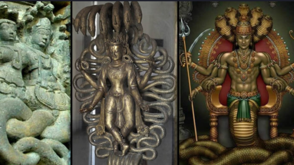 The Nagas: The mythological reptilian deities living in large underground cities 56