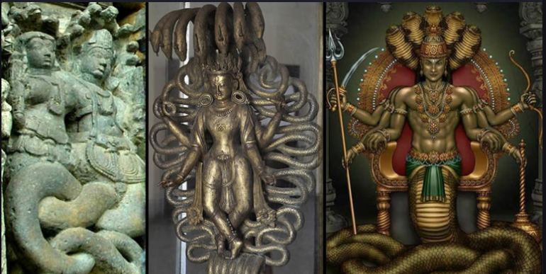 The Nagas: The mythological reptilian deities living in large underground cities 31