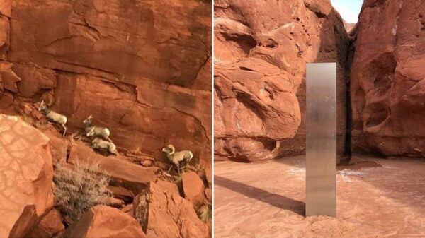Helicopter pilot finds strange metal monolith in remote part of Utah 20