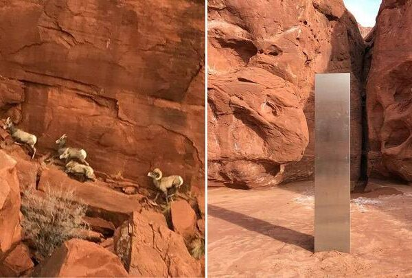 Helicopter pilot finds strange metal monolith in remote part of Utah 33