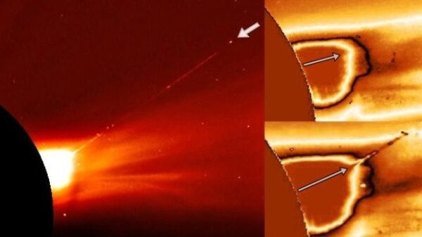 Alien Spaceship exits the Sun and leaves behind a huge plasma trail 31