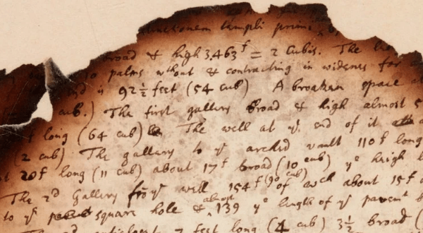 Burnt notes reveal Newton's Apocalypse research and Forbidden Texts On The Great Pyramid 25