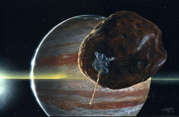 """NASA, the """"Juno"""" space probe has recorded a radio signal source in Jupiter's orbit.  Could it be an interplanetary station? 39"""