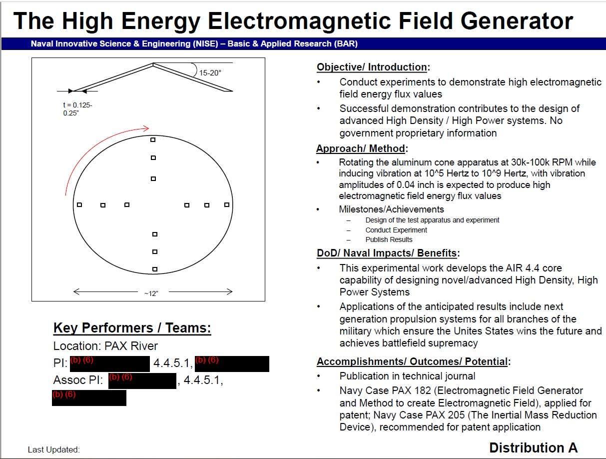 """Documentos da Marinha dos EUA falam de uma """"arma de modificação do espaço-tempo"""" 45"""
