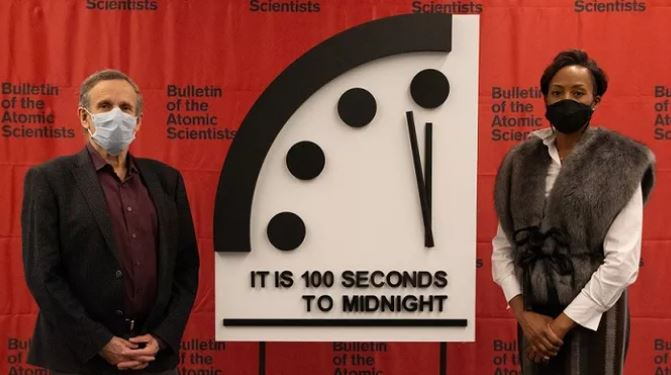 Doomsday clock is 100 seconds to midnight 31