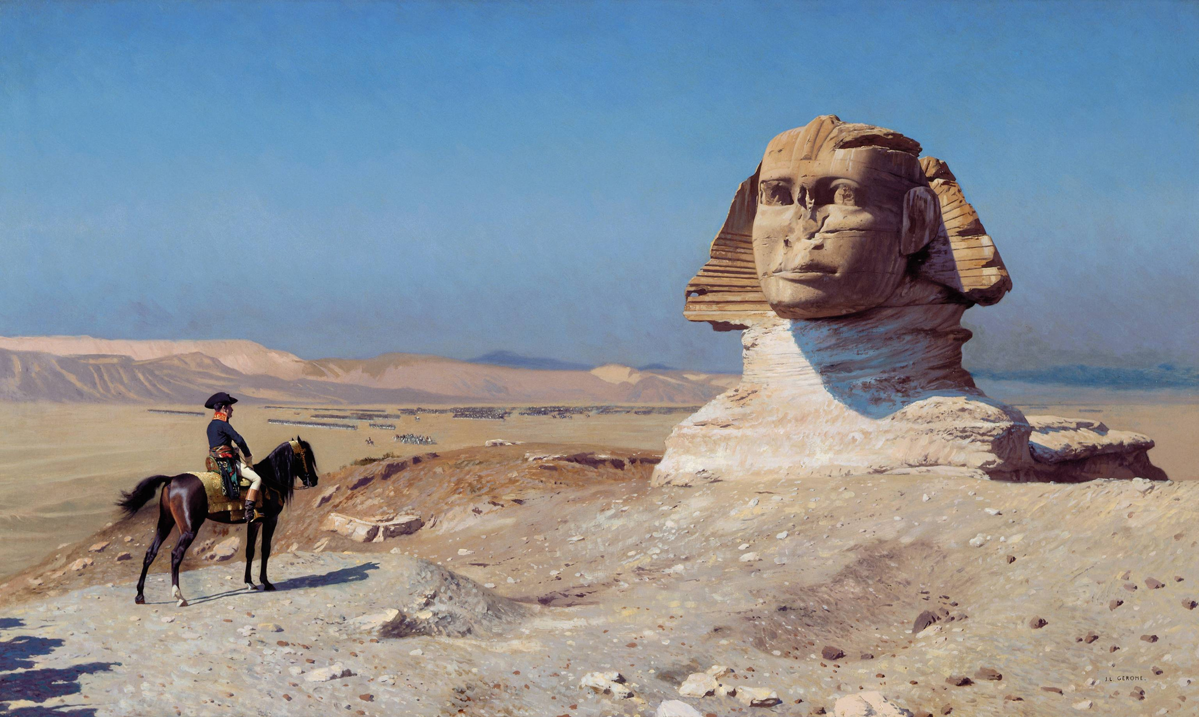 """Painting by Jean-Léon Jerome """"Bonaparte before the Sphinx"""", 1867-1868  Photo © Wikipedia"""